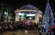 La magia de la Navidad llega a Motul: Encienden el árbol navideño de la Comuna