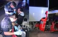 Un mototaxista de Motul se duerme al volante y choca contra un autobús estacionado