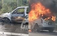 Por una falla mecánica, se incendió una camioneta, en la carretera Opichén-Muna