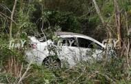 Vuelca en la vía Mérida-Hunucmá: Resulta ilesa