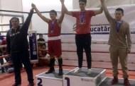 Cuatro boxeadores de Oxkutzcab ganan medallas de plata y bronce, en la Olimpiada Estatal