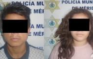 Par de ladrones roban en una tienda de telefonía celular, en el Centro de Mérida