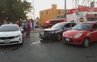 Ebrios, chocan contra dos autos, en la Fidel Velazquez: hay una menor lesionada