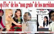 """Michelle Fridman y Kathia al """"Top Five"""" de los """"non grato"""" en Mérida"""