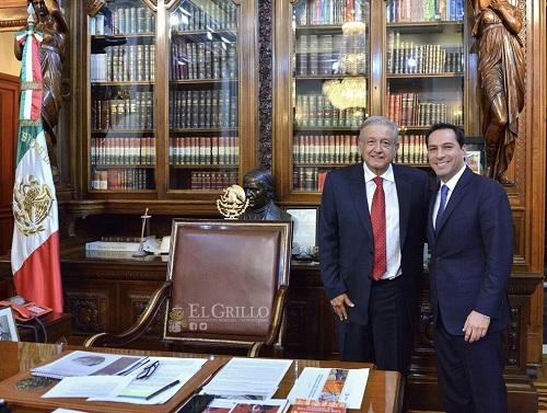 Mauricio Vila y López Obrador trabajarán para impulsar el desarrollo de Yucatán