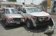 Choca en el centro de Mérida, cuando llevaba a su papá a un hospital