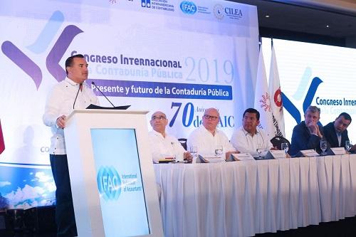 Renán Barrera inauguró el Congreso Internacional de la Contaduría Pública 2019