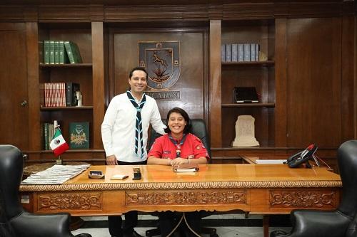 Nombran a la scout Andrea Sauma como gobernadora por un día