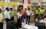 Exitoso simulacro de incendio en la tienda Coppel de Oxkutzcab