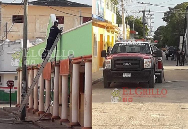 Una fuga de gas a alarma a vecinos del mercado de Buctzotz