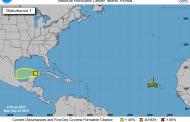 Zona de baja presión sobre la Península de Yucatán, en un 20% de convertirse en ciclón