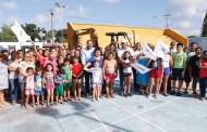 Renán Barrera inaugura las obras de remozamiento de los parques