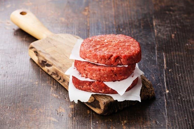 Carne de hamburguesa de