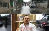 Una lluvia inunda calles de Dzidzantún: Están tapados, los pozos pluviales