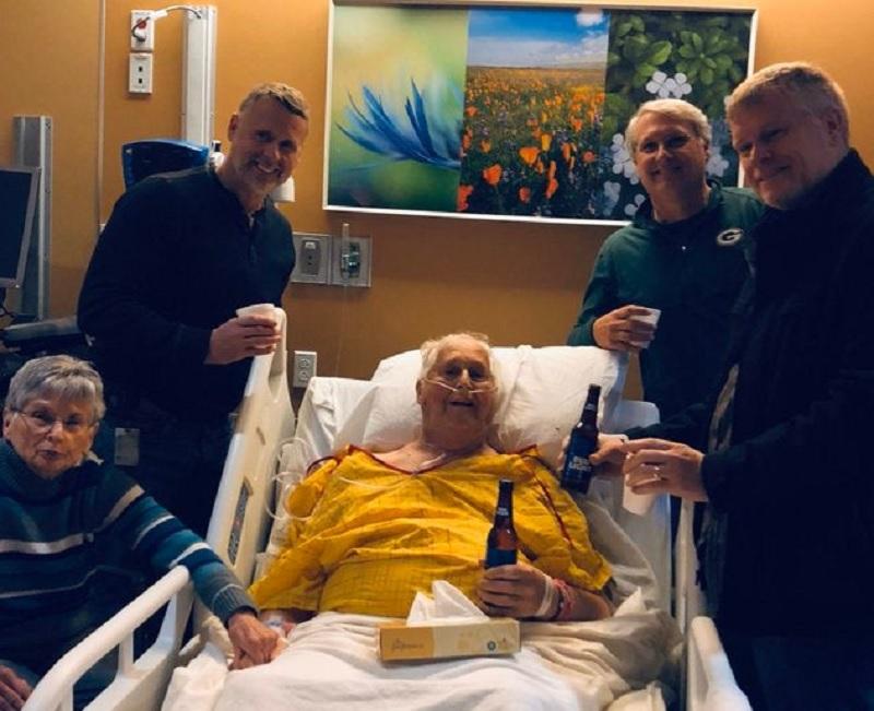 Su último deseo antes de morir: Pidió tomar una cerveza con sus hijos