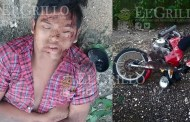 Ebrio roba una moto para ir a Cansacab, pero en Dzidzantún derrapa y se lesiona