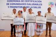 Cinco comisarías reciben certificación de comunidades saludables