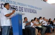 Récord de acciones de vivienda en Oxkutzcab, con inversión de $27 millones