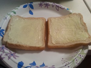 Two slices, buttered up