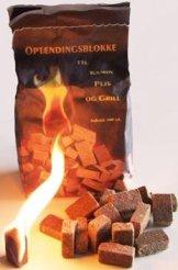 100 Stück natürlicher Ofenanzünder aus Holzfaser # Grillanzünder Kaminanzünder Feueranzünder Anzündwürfel Anzündhilfe Holzanzünder -