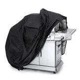 Awnic Grillabdeckung BBQ Abdeckung für Grill Medium 145 cm Beständig 210T Taft Wasserdicht Anti-UV Anti-Staub -Schwarz/Silber -