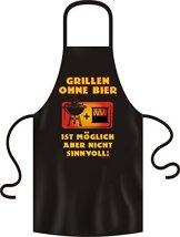 Lustige Grillschürze Kochschürze Schürze Grillen ohne Bier -