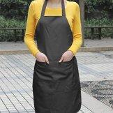 Yahee Küchenschürze Grillschürze Kochschürze Schürze Latzschürze BBQ Arbeitskleidung (Schwarz) -