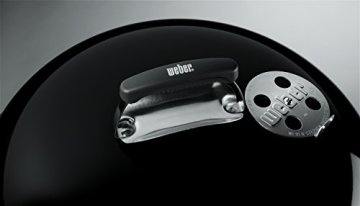 Weber 1321004 Compact Kettle, Holzkohle-Kugelgrill 57 cm, Schwarz -