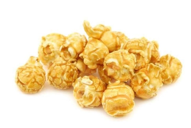 pieces of caramel popcorn
