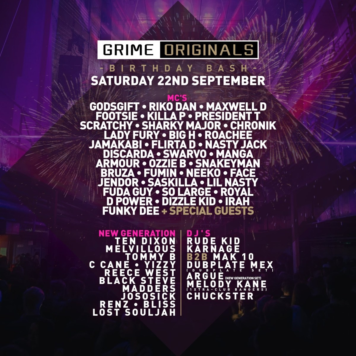 Grime Originals Announce September 22nd London Line Up