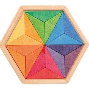 Drewniane Puzzle do układania