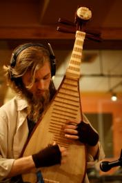 BCG on pipa lute w/ Lovely Socialite @ Blast House Studios | photo by Megan Aley