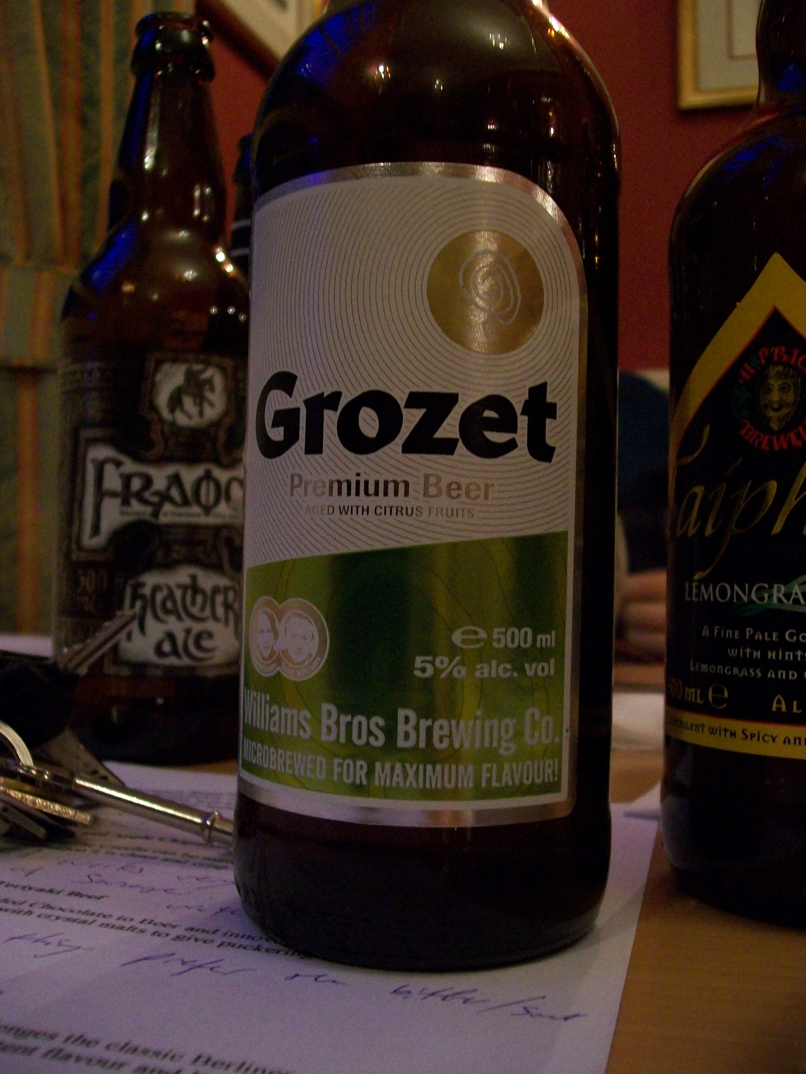 Grozet, Lager - Sounds Eastern European but is actually Scottish!