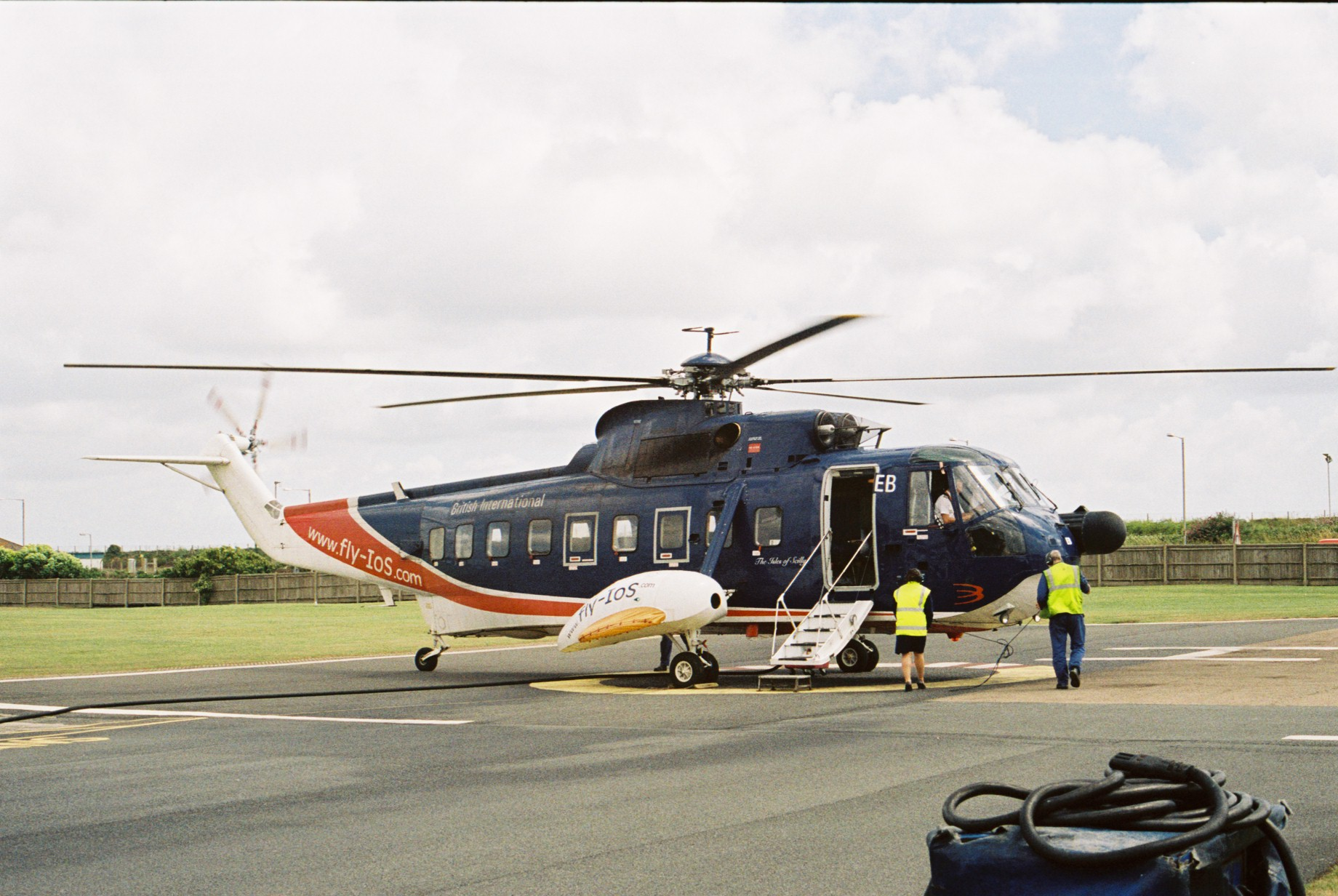 Sikorsky S 61 at Long Rock Heliport, Penzance