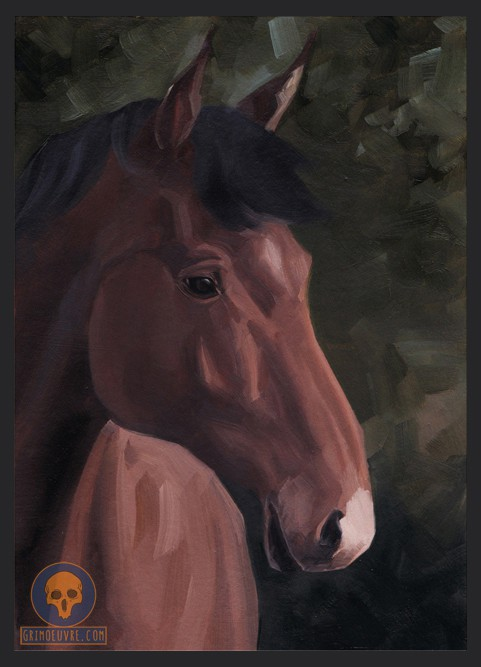 Oil painting sketch Horse