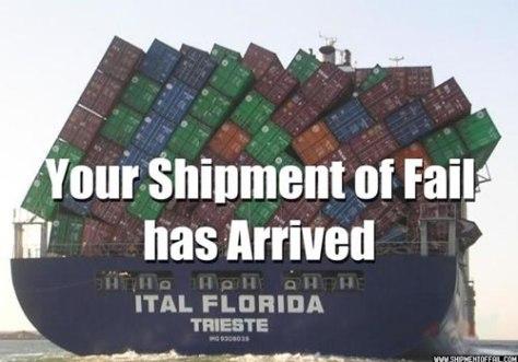 Shipment of FAIL!
