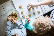 Children Helping Make Cookies