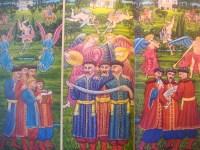 Олесь ДОРІЧЕКО , «Сад божественних пісень» (триптих, полотно, олія).