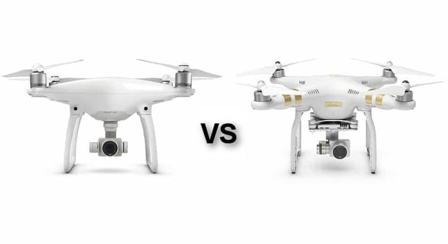 difference between Phantom 3 and Phantom 4