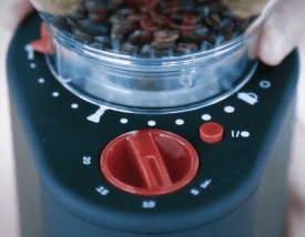 bodum bistro electric burr coffee grinder grind setup and timer review
