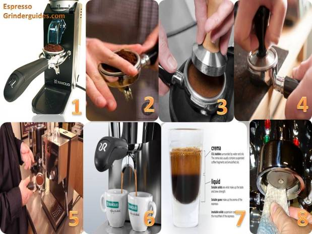 image how to make coffee espresso shot