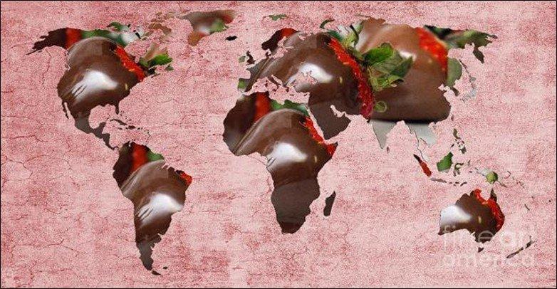 Candy World Map
