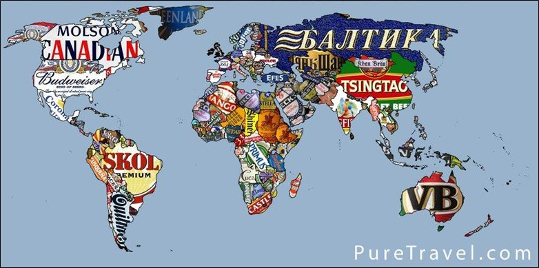 50 beautiful world maps portrayed by different things beer lover world map gumiabroncs Images