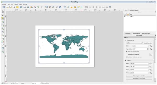 world map output