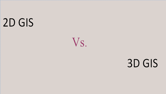 Difference between 2D and 3D GIS
