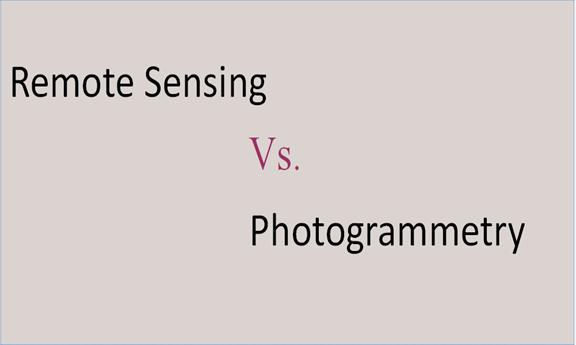 Similarities between remote sensing and photogrammetry