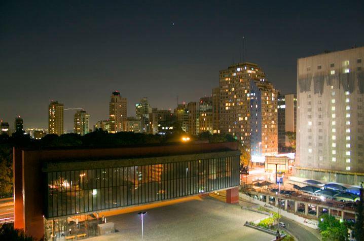 Sao Paulo at night.
