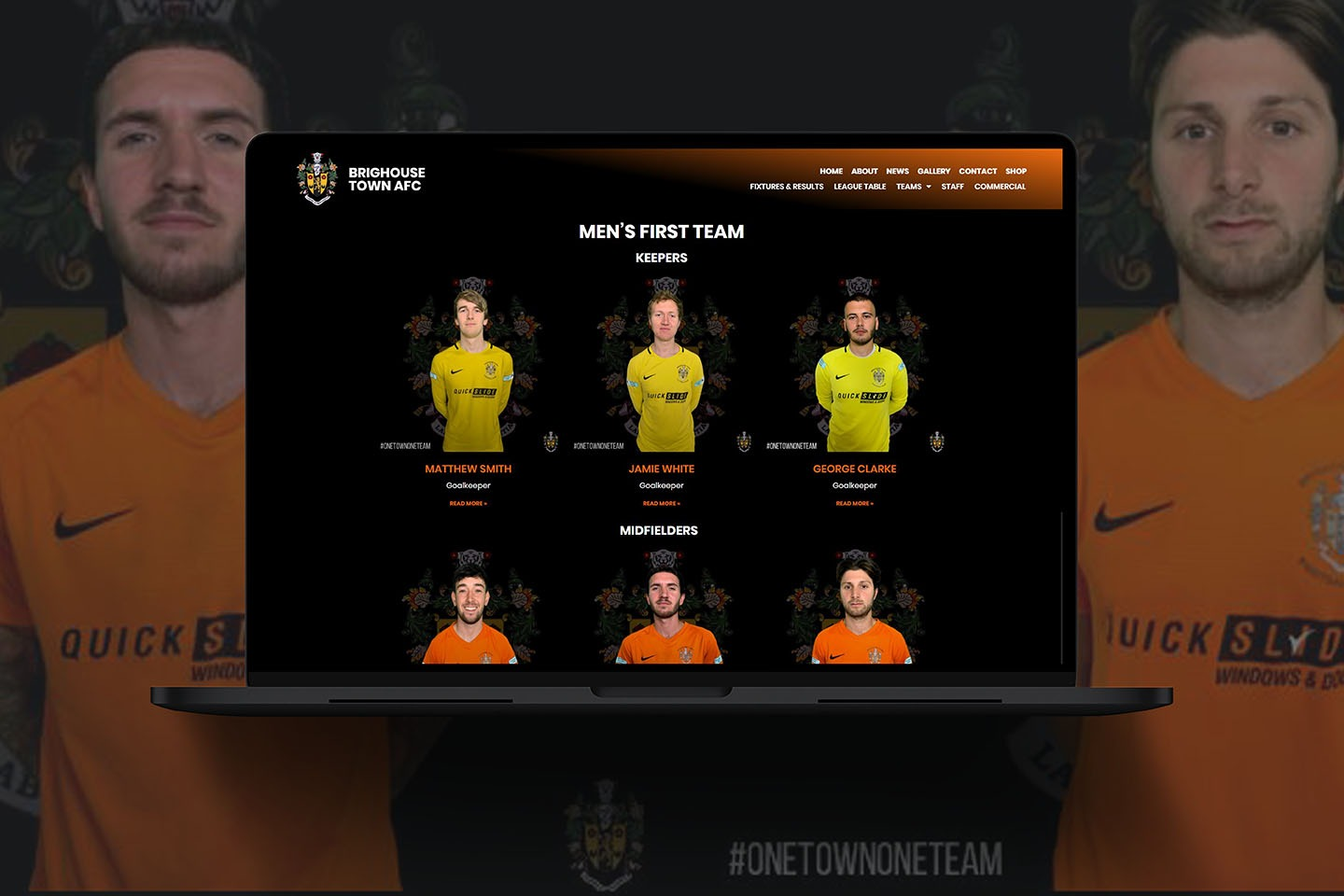 Web Design for local Football Club Brighouse Town AFC