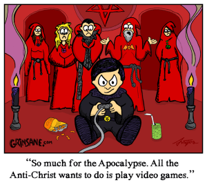Video Game Antichrist Cartoon