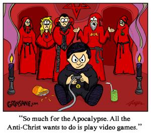 Video Game Antichrist Cartoon